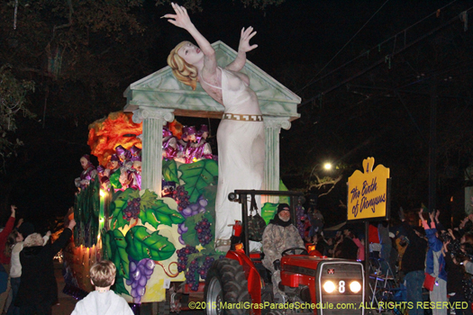 diana in the Krewe of Hermes - photo by Jules Richard