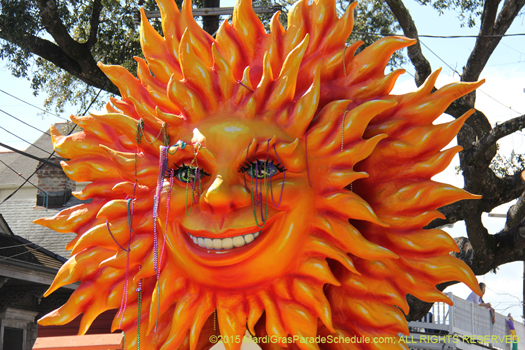 The sun rises over the Krewe of King Arthur - photo by Jules Richard