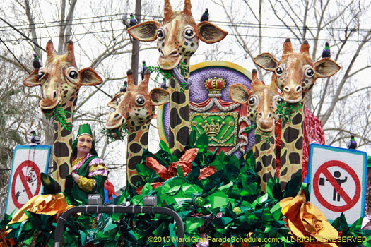 Mardi Gras New Orleans. Krewe of Mid City Theme Dey' All Axed For You! - photograph by Jules Richard