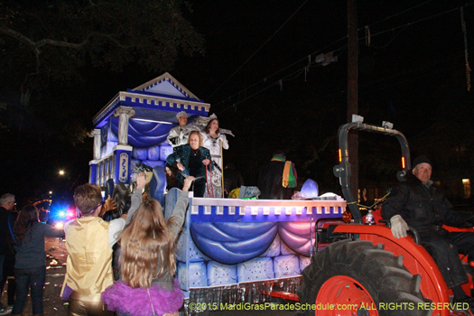 King and Queen of Krewe of Morpheus 2015 - photo by Jules richard