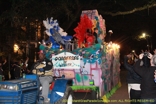 The goddesses are out in the Krewe of Oshun Mardi Gras parade - photo by Jules Richard