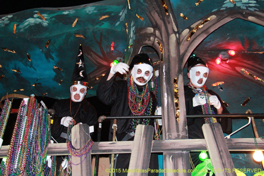 Masked riders in the Mystic Krewe of Druids - photo by Jules Richard